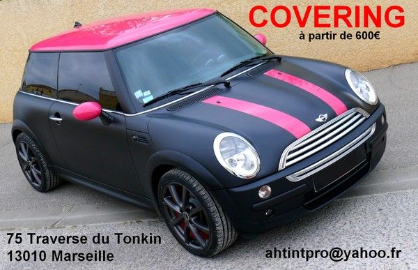 covering mini one cooper s noir mat mini cooper rose. Black Bedroom Furniture Sets. Home Design Ideas