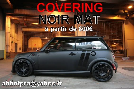 covering mini one cooper s noir mat. Black Bedroom Furniture Sets. Home Design Ideas